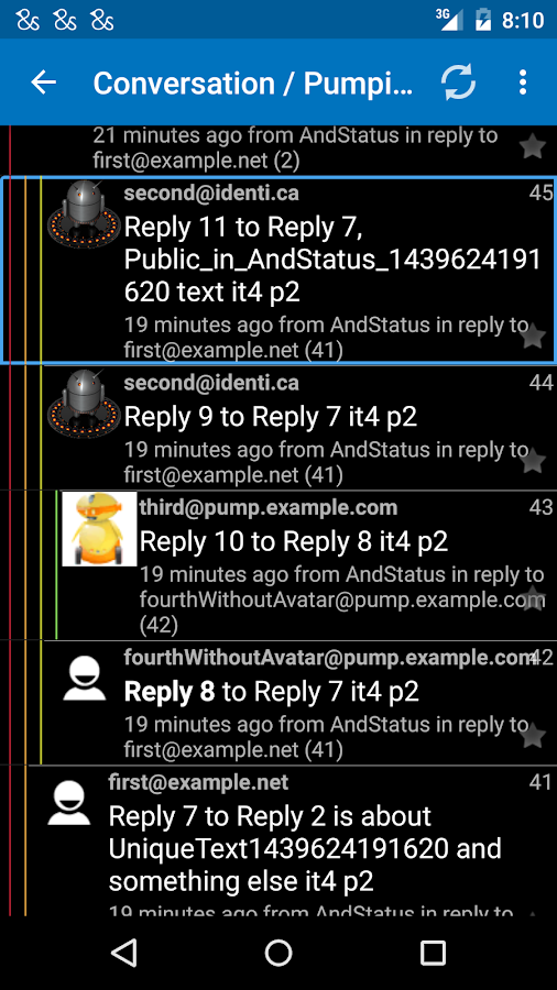 AndStatus- screenshot