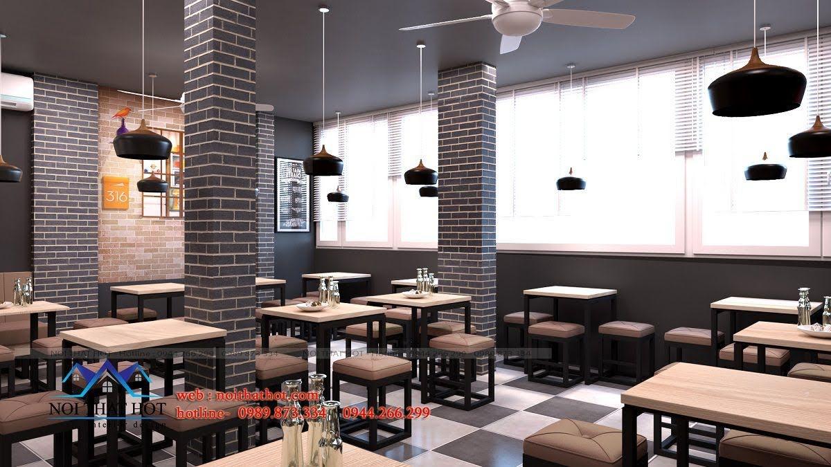 thiết kế quán ăn nhanh ấn tượng