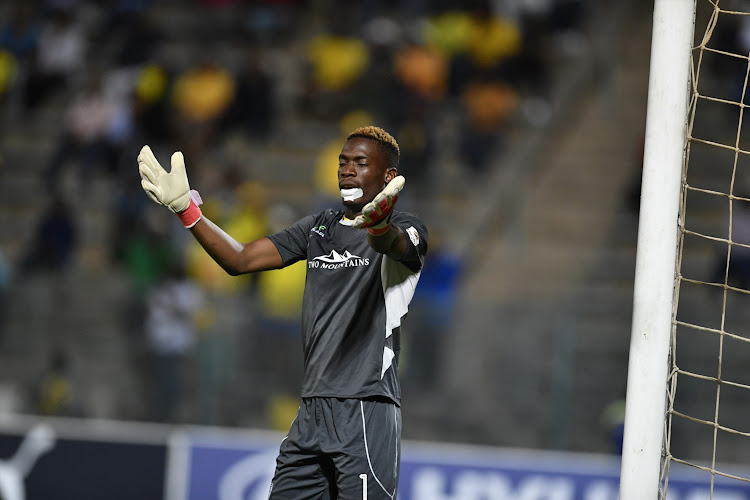 "Baroka FC goalkeeper Elvis Chipezeze received criticism from Mamelodi Sundowns coach Pitso Mosimane for ""killing time"" during a goalless Absa Premiership encounter at Lucas Moripe Stadium in Atteridgeville, west of Pretoria, on December 11 2018."