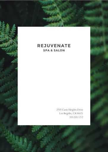 Rejuvenate Spa & Salon - Photo Card Template