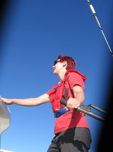 Photo: Kylie at the helm