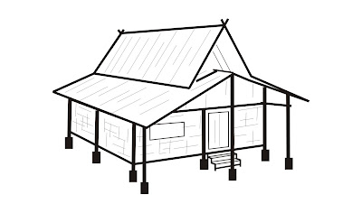 Rumah Adat Sunda Gambar Sketsa Yan Yan Ariesandi Nugraha