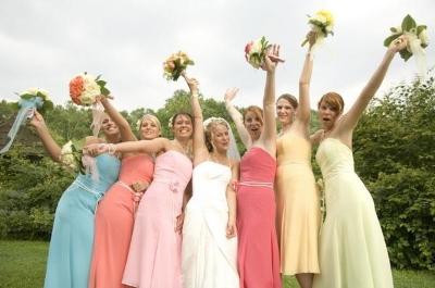 Multicolor Bridesmaid Dresses