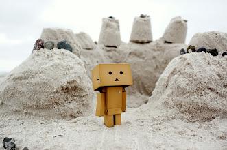Photo: #Danbo quit happy with the sandcastle