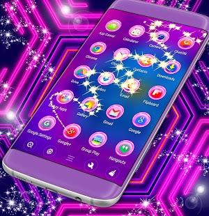 Neon Launcher Témata - náhled