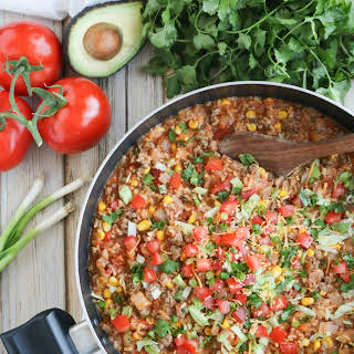 One-Pot Mexican Rice Skillet Dinner.