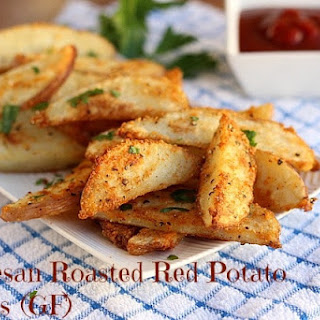 Parmesan Roasted Red Potato Wedges (GF).