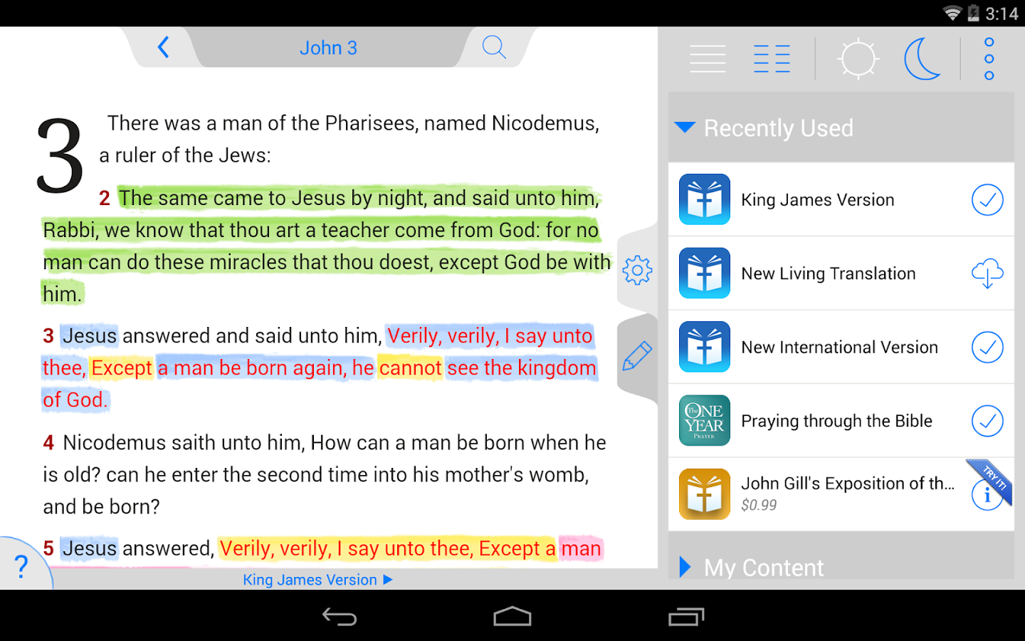 New American Standard Bible- screenshot