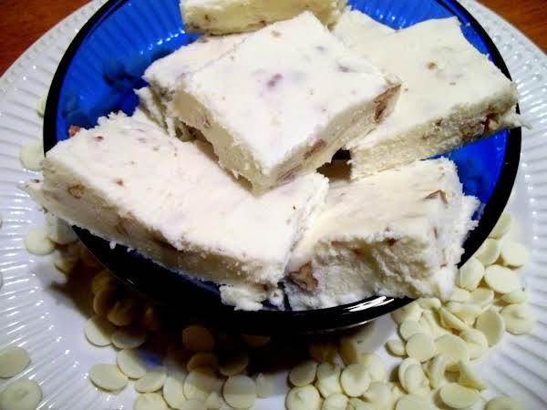 White Chocolate, Coconut, Pecan Fudge