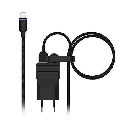 Unisynk strömadapter 2,4A + lightning USB-sladd 1,2m