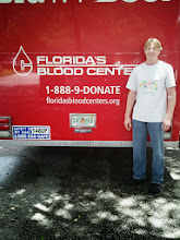 Photo: Orlando, Fl. - Googlers coordinated a blood drive with Florida's Blood Center. This Googler has given 61 pints so far!