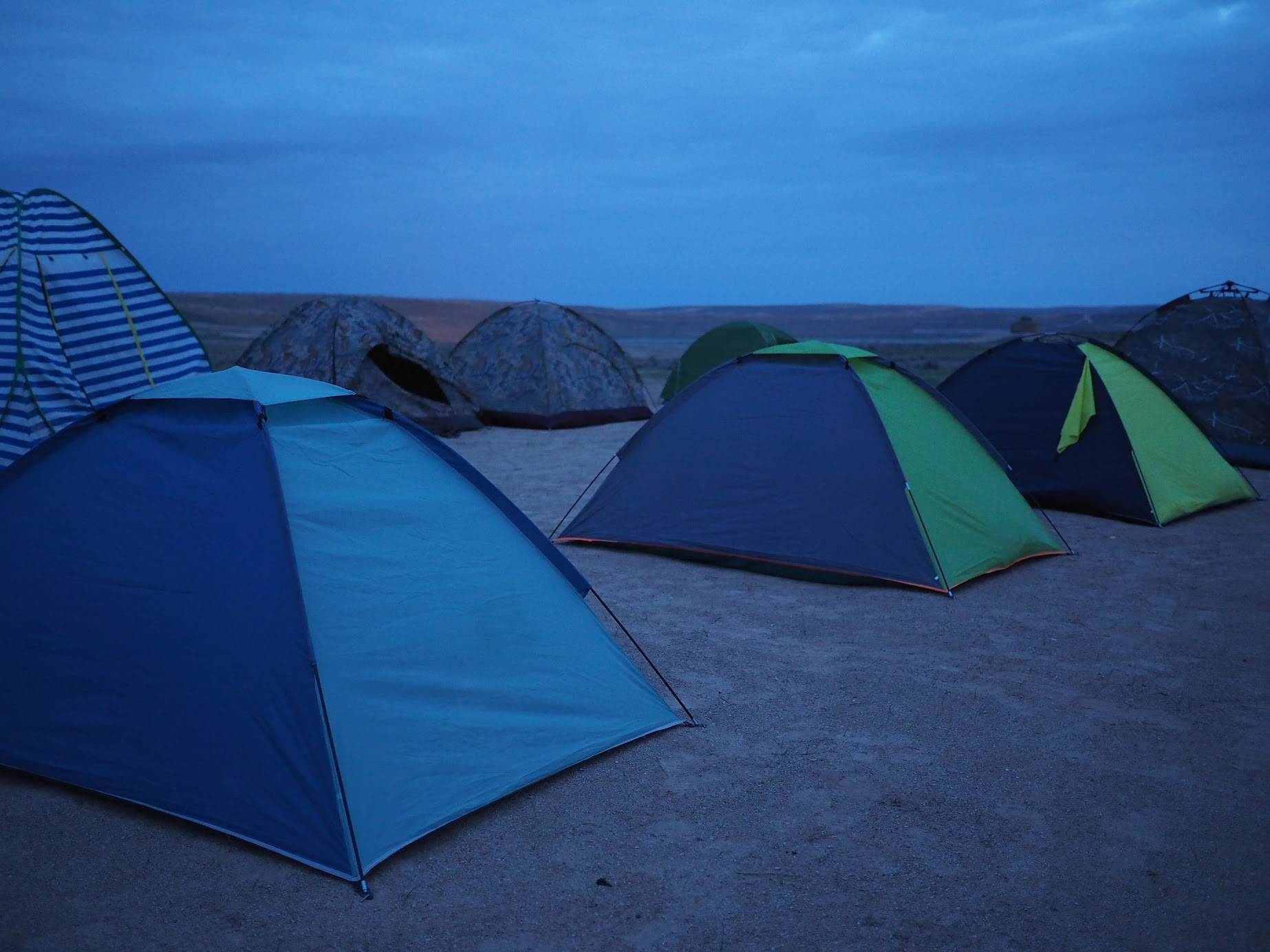 Camping at Darvaza Crater