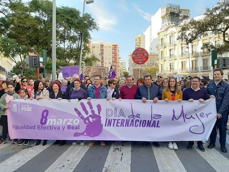 El PSOE almeriense participa en la marcha.