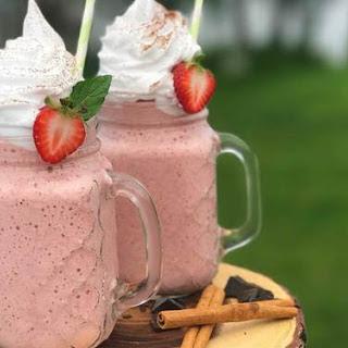 Strawberry Chai Protein Shake.