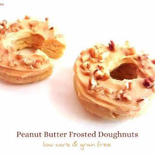 Peanut Butter Frosted Doughnuts