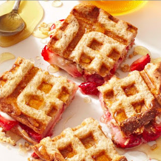 Strawberry And Cream Cheese Waffle Sandwiches Recipe
