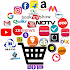 All in one: Shopping, Sport, News,Food, Social etc