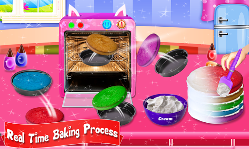 Glittery & Sparkly Rainbow Unicorn Cake Maker! 1.6 screenshots 3