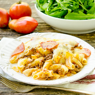 Pepperoni and Beef Pizza Casserole Recipe