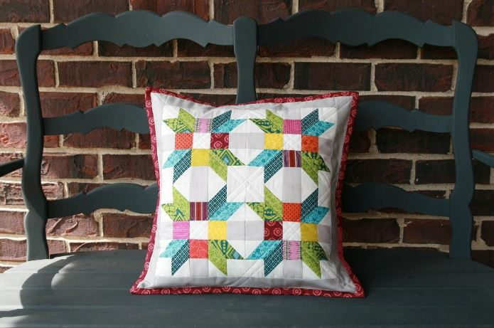 Bluprint Member Pattern - Rainbow Poinsetta Pillow