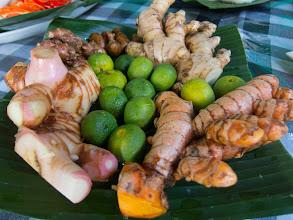 Photo: Limes, galangal, tumeric, ginger