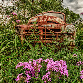 Rusting away by Jozette Spacht - Transportation Automobiles