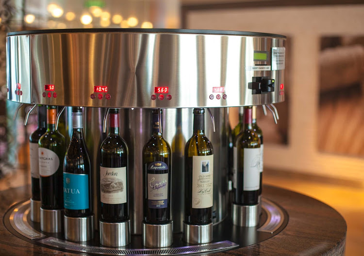 An Enomatic Wine Dispenser In Cellar Masters Aboard Celebrity Infinity