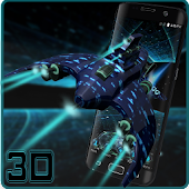 3D Space Ship Aircraft theme