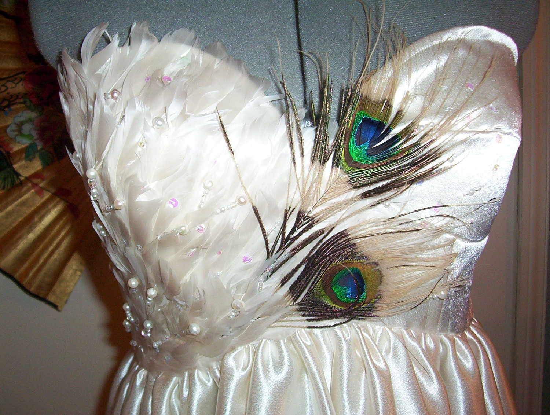 White peacock dress - photo#53
