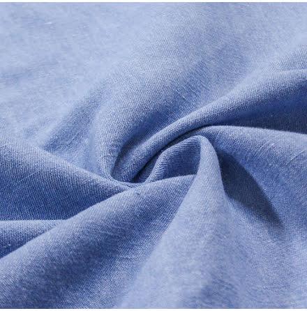 Lin/Bomullstyg - ljusblå
