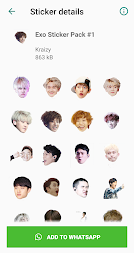 Exo WhatsApp Sticker Kpop APK screenshot thumbnail 1