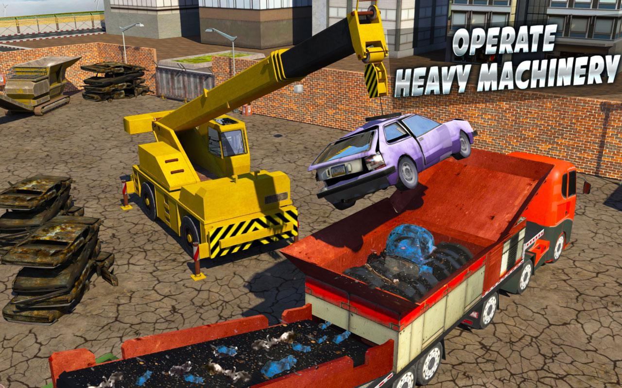 monster car crusher crane 2k17 city garbage truck android apps