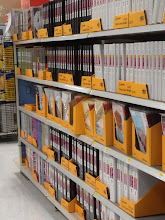 Photo: Rows and rows of fresh binders... sigh.