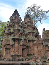 Photo: Banteay Srei contains some of the best, and best preserved carvings.