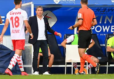 Philippe Montanier, le coach du Standard de Liège déçu après la première défaite de la saison