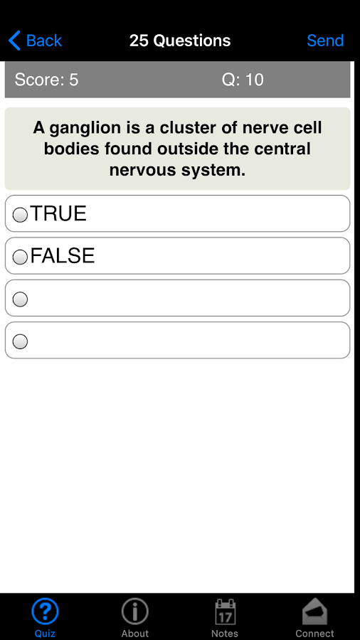 Learning Anatomy Quiz- screenshot