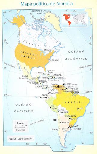 MAPA POLITICO DE AMERICA