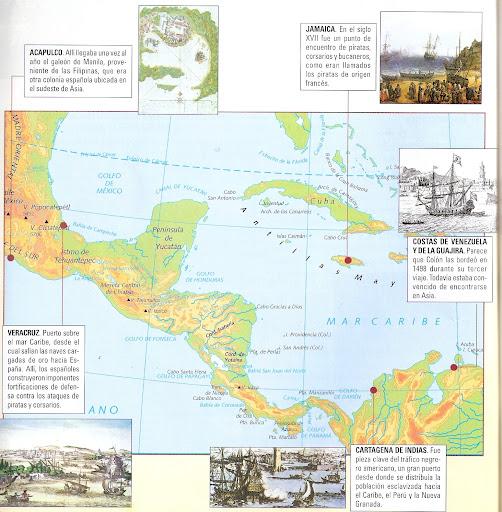 MAPA DESCUBRIMIENTO Y CONQUISTA DE AMERICA