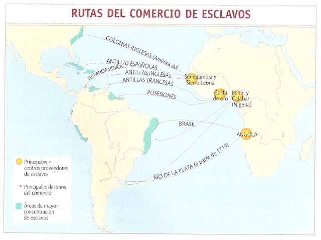RUTAS DE COMERCIOS DE ESCLAVOS