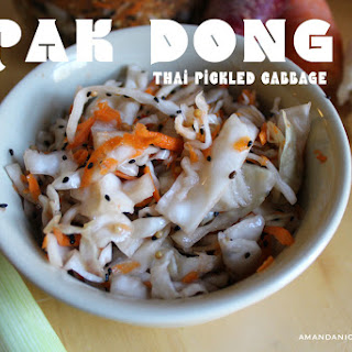Pak Dong | Thai Pickled Cabbage.