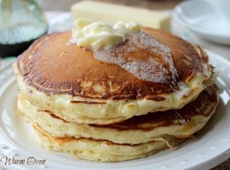 In a large bowl, combine flour, sugar, baking powder, baking soda, and salt. In...