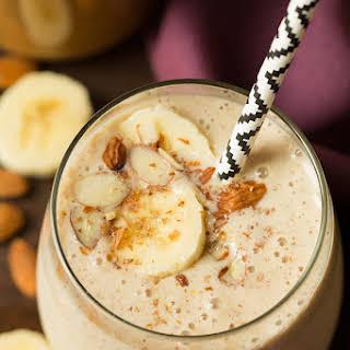 Banana Almond Flax Smoothie.