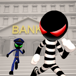 Stickman Bank Robbery Escape Icon