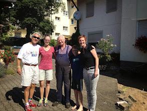 Photo: I always enjoy seeing Hiener from next door when I visit . . . Hard to believe I've known him 25 years!