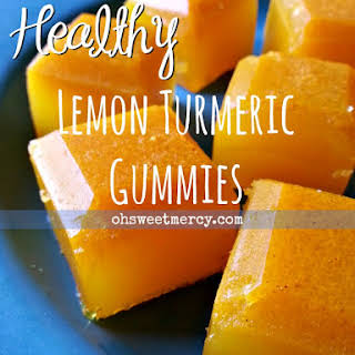 Healthy Lemon Turmeric Gummies.