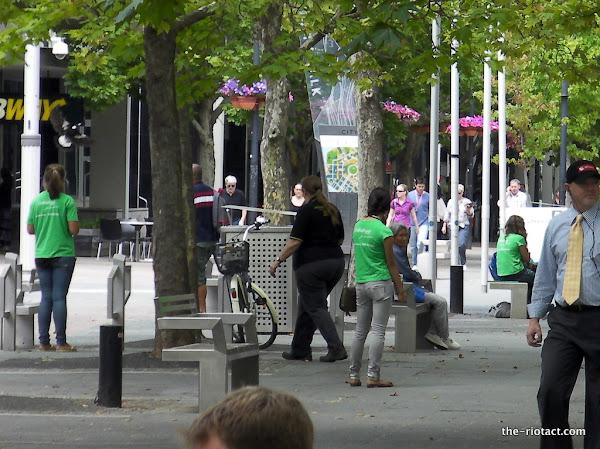 Chuggers on City Walk