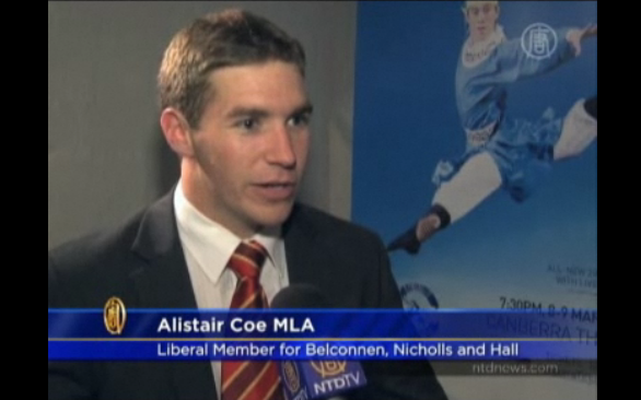 Alistair Coe on chinese television