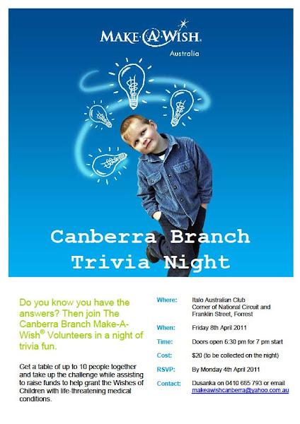 Make a wish trivia night poster