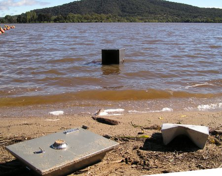safe disposal in lake burley griffin