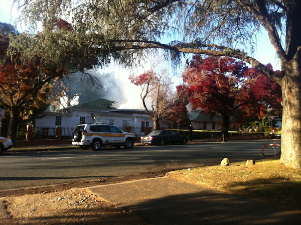 fire at the Canberra Services Club in manuka